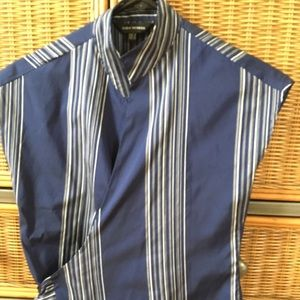 Zara woman navy /white striped blouse